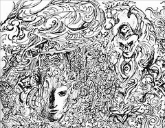 Montage (shaire productions) Tags: people abstract man detail art texture illustration pen ink skeleton person design sketch artwork graphics dragon graphic designer drawing sketching wing surreal style sketchbook line doodle thai illustrator draw drawn sketches winged productions sherrie stylized prod detailed linework stylistic sherriethai shaire shaireproductions