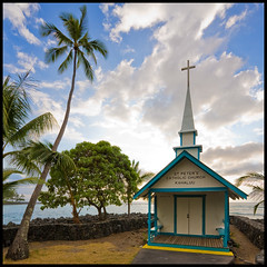 Praying for Surf (konaboy) Tags: hawaii surf waves prayer surfers bigisland kailuakona kahaluu stpeterscatholicchurch 19194