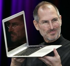 Steve Jobs with MacBook Air