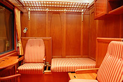 European heritage train for charters - premium sleeper, by day