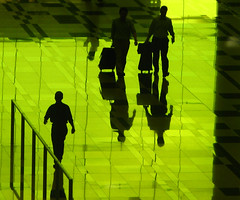 Green Check-in (Life in AsiaNZ) Tags: people 3 men green lines silhouette canon reflections three hall check airport singapore shadows g terminal powershot international fv10 series changi departure reflexions checking   g9 wonderfulshot gseries abigfave firsttheearth  cmwdgreen canong9 lifeinnanning cmwdweeklywinner airportstreetstyle flickrgiants