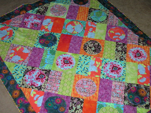 on the floor so I can see the binding quilt