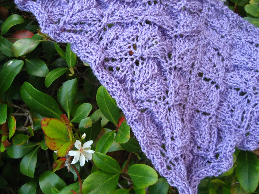 Leaf Lace Shawl Sample