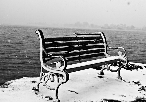 Seat alone in the snow ...