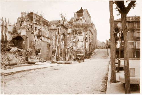 Zocodover destruído tras la Guerra Civil