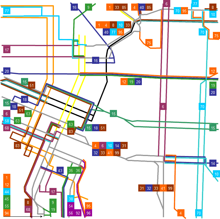 Rosecitytransit Old TriMet City Center Map