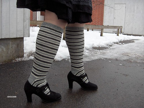 stripey knee highs