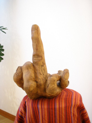 Pirete feito pelo Claré com uma raíz de freixo