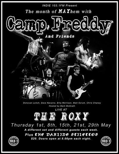 Camp Freddy - Every Thursday in May