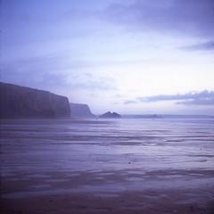 . (Rebecca...) Tags: uk blue sea sky 6x6 tlr film beach water square watergatebay cornwall fuji slide velvia medium format 24 yashica 220 twinlensreflex 100f