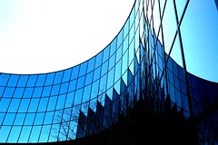Technology Curve (Wonderlane) Tags: blue windows abstract black reflection building glass architecture modern technology tech contemporary branches technical techno hightech curve curved bellevue parabolic digitalage wonderlane 2334 darthvaderbuilding technicalabstract