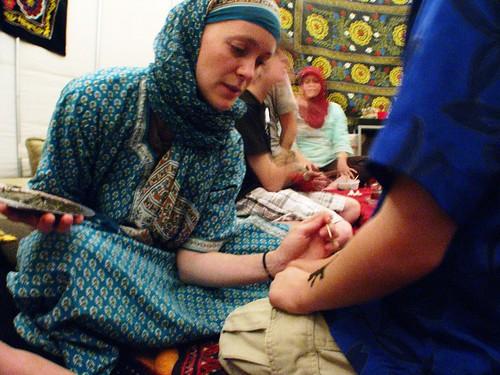 Iraqi Henna session at The King's Harbour Church, Redondo Beach, California, USA