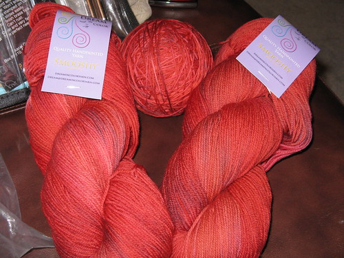 Dream in Color Smooshy Yarn in Lipstick Lava color