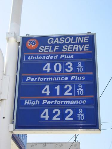 Four bucks a gallon