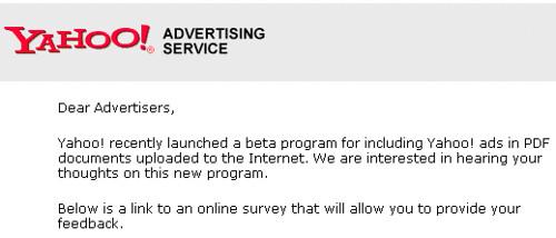 Yahoo PDF E-mail
