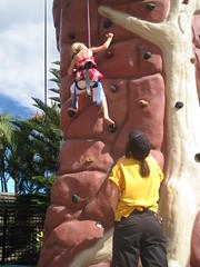 Christy rock climbing