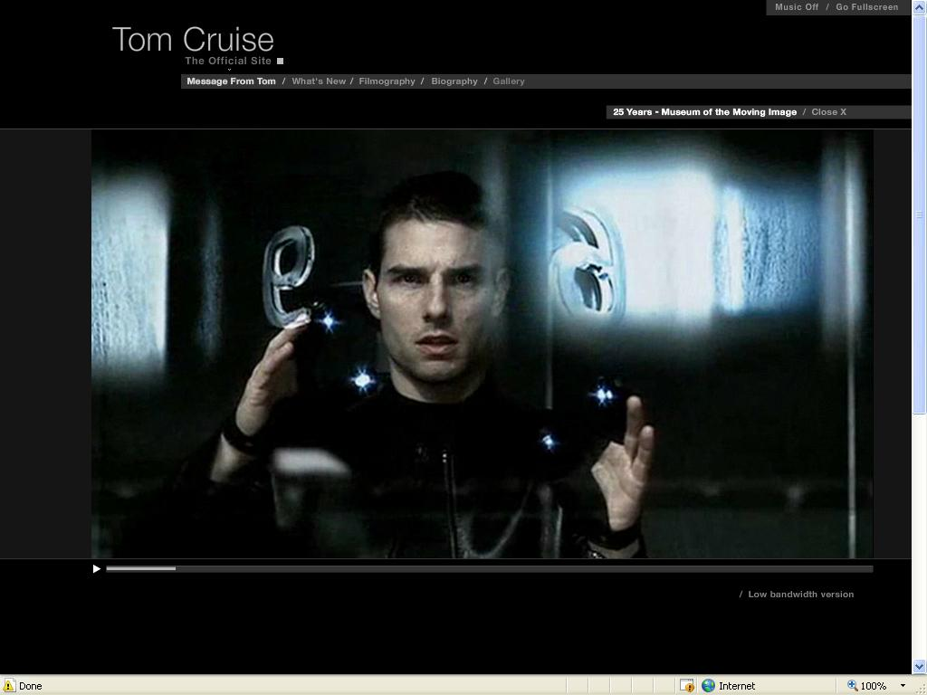 Tom Cruise Official Website