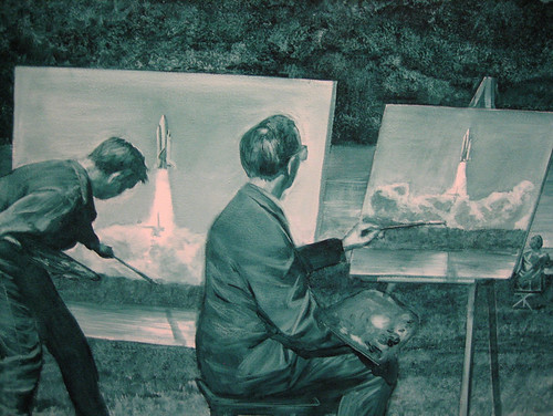 Mark Tansey: Action Painting II (detail) por Lotte_Meijer.