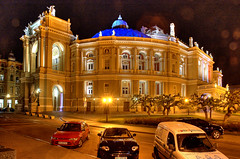 Odessa  Theatre of Opera and Ballet (jandudas) Tags: old city sea black architecture night port europe view odessa ukraine eastern hdr ukrajina ucraina photomatix ades  ukrajna 3exp oekrane  a