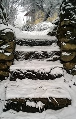 Stairs covered with snow (Mehreen Alam) Tags: snow nature landscape kashmir asia love me toronto