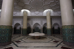 The Abluting Place (MykReeve) Tags: light fountain columns morocco casablanca column hassaniimosque ablutionfountain