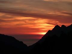 Au gîte de Marignana : le coucher du soleil