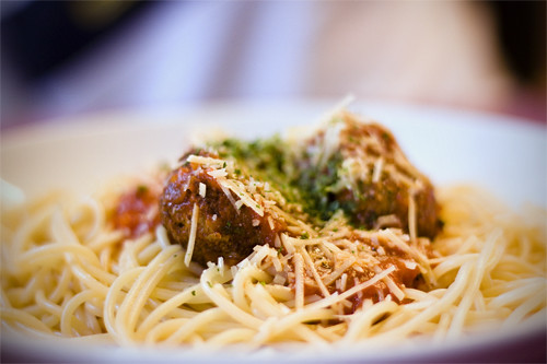 Faustina's Spaghetti and Meatbombs