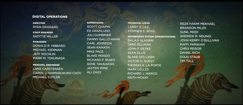 Name in credits of Kung Fu Panda 2 by s_w_ellis
