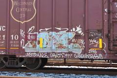 idee ugg (total annihilation) Tags: nyc railroad color art train graffiti panel oldschool piece freight idee ugg blend