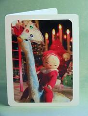 vintage Japan. (fun_is_always_in_style) Tags: christmas japan vintage paper sparkle elf card etsy elves