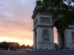 Sunset behind the Arc
