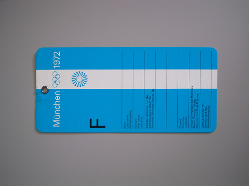 Munich Olympics, Luggage Tag