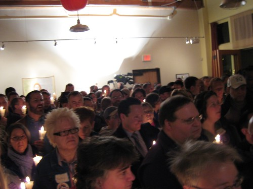 vigil for domestic partnerships in Oregon