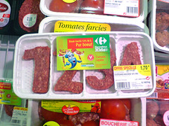 learn to count with MMMMMEAT (squacco) Tags: fridge tomates meat 1234 farcies freanch ourworld2008