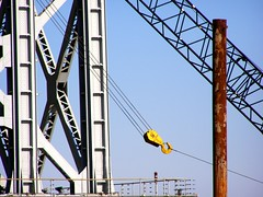 Piling Construction at the New Jersey Tower Base of the George Washington Bridge (jag9889) Tags: bridge ny newyork puente newjersey crossing suspension nj bridges ponte pont hudsonriver brcke 2008 gw gwb waterway georgewashingtonbridge washingtonheights ingersollrand bergencounty othmar othmarammann ammann panynj portauthorityofnewyorkandnewjersey k007 y2008 jag9889