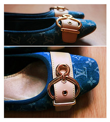 I will never, (heartbreaker [London]) Tags: blue leather fashion comfortable canon eos gold flat heart style flats jeans breaker lv louisvuitton jnz newcollection 400d lvballerina lvjeans lvflat