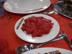 Meat Fondue at Hotel Edelweiss, Geneva