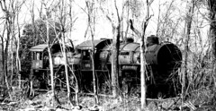 DSC_0191ps (jreidfive) Tags: road old white black abandoned danger yard train lost virginia downtown rail roanoke forgotten engines scrap