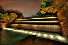 FDR Memorial at Night (NearDC) Tags: longexposure light night waterfall dc washington memorial shadows hdr fdr 5xp neardc
