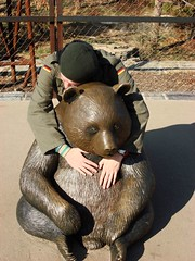 Interspecies Erotica (Tylerbomb) Tags: love statue dave bronze zoo washingtondc smithsonian hug panda embrace beastiality