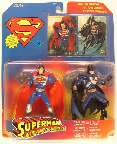 Cyber-Link Superman and Batman Limited Edition action figures