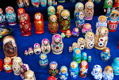 Display of Russian Stacking Dolls (incurable_hippie) Tags: color colour detail macro art closeup handicraft toy design wooden folkart russia traditional craft ornament inside tradition sizes detailed intricate russiandolls nesteddoll matryoshkadolls stackingdoll babooshkadoll