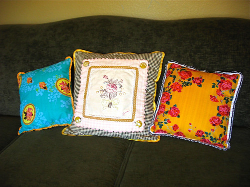3 new pillows
