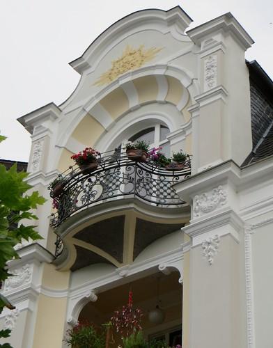 Maison Art nouveau, Untere Markt Straße, Boppard, Landkreis Rhein-Hunsrück, Rhénanie-Palatinat, Allemagne.