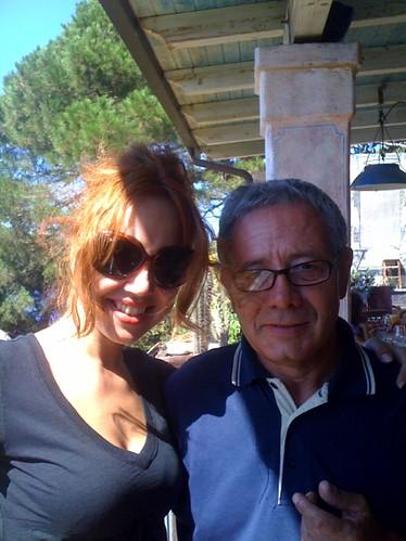 Erika e il sig. Vittorio al Go! Restaurant :)