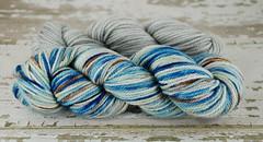 """Colored Cement (Var)"" 3.55oz UK BFL Aran + 2.5oz trim"