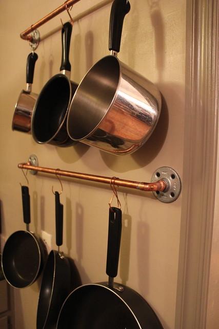 Diy Copper Pot Rack Kara Paslay Design