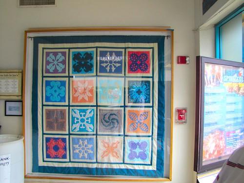 quilt inside the aquarium