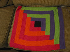 In progess Log Cabin Blanket II