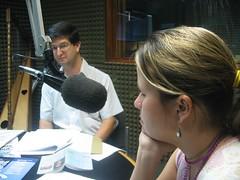 Arturo Peraza sj con Laura Weffer